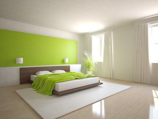 green 3d bedroom