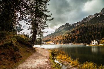 Misurina lake in the dolomiti