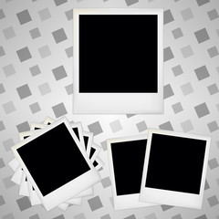 Retro blank photo frames.