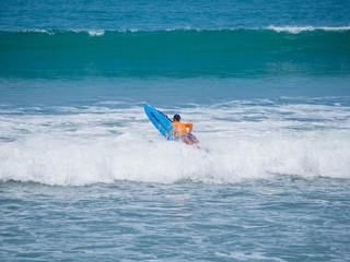 Surfing in Kuta Bali Indonesia