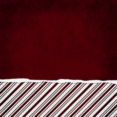 Square Red and White Candy Cane Stripe Torn Grunge Textured Back