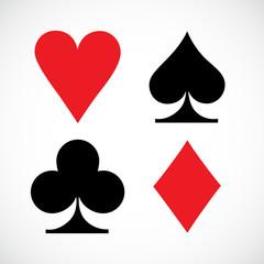 Playing cards symbols. Vector illustration.