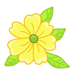 yellow flower isolated illustration