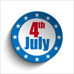 United States Independence Day Button