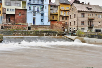 weir on river