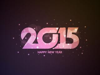 Glittering happy new year 2015 background.