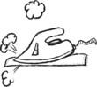 doodle modern steam iron