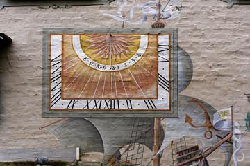 Wall Mural - Sonnenuhr Wyk Föhr
