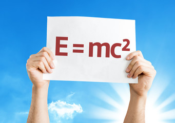 E = mc2 card with a beautiful day