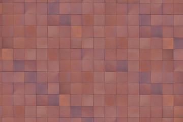 braun-rote Fliesen