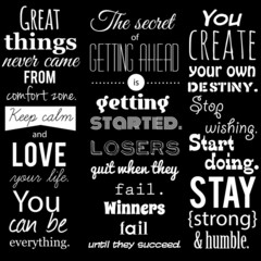 Inspirational VECTOR quotation set.