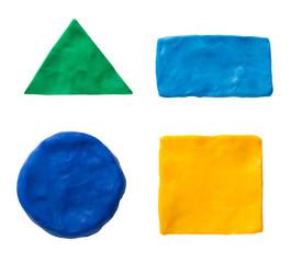 Plasticine  geometric shapes