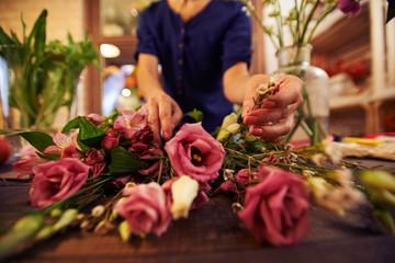Working florist