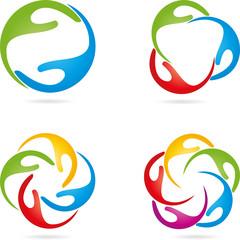 Logo, Hände, Physiotherapie, Heilpraktiker