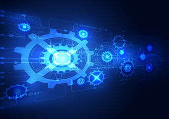 Abstract technology digital concept background, vector