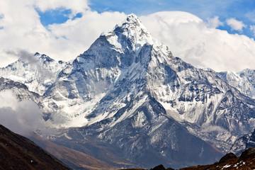 Ama Dablam mount in Sagarmatha National park, Nepal