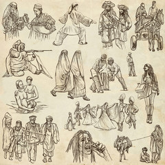 Natives - Hand drawn illustrations