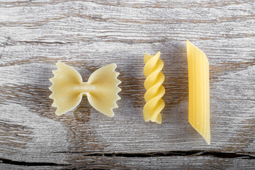 Three different macaroni