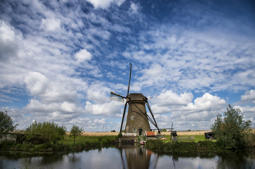 Windmill in Kinderdijk, Holland, Netherlands