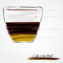 Coffee, cafe Con Miel