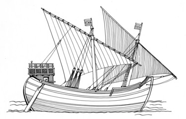 Niña - one of the three ships, used by Columbus