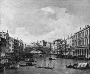 Rialto bridge, Venice by Bernardo Bellotto