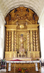 The main altar with infant Jesus and St. Ignatius Loyola