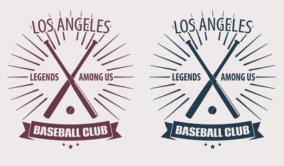 Baseball Club LA emblem vector illustration, eps10, easy to edit