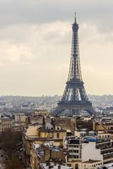 Paris, France. A city landscape with the Eiffel Tower.