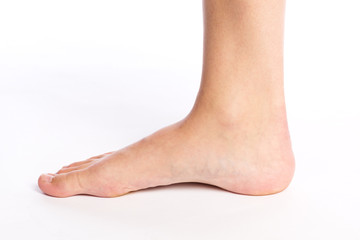 rechter Fuß einer Frau