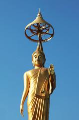 gold buddha image stand