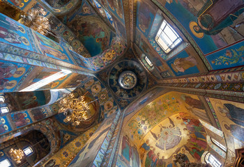 Interior of the Church of the Savior on Spilled Blood