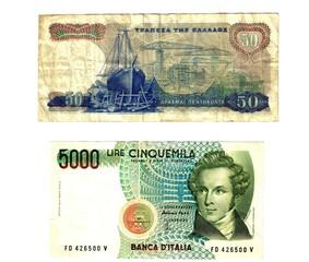 old european banknotes