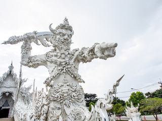 ogre guardian of a temple in Thailand