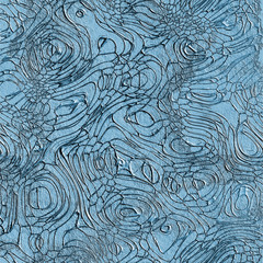 Abstract relief texture in blue