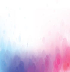 Vector bokeh background, blue and pink colors.
