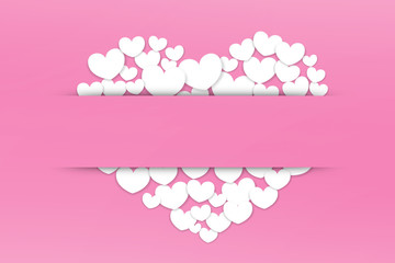Valentines Day, pink background heart  sticky