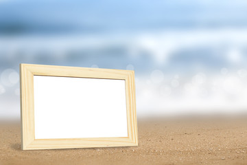 frame on beach