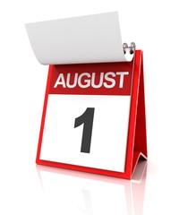 First of August calendar