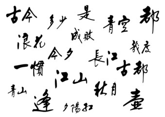 Chinese calligraphy. vector