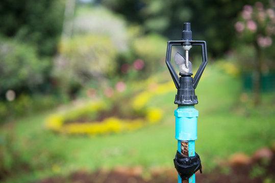 Image of lawn sprinkler system