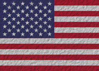 United States flag stone