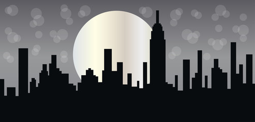 New York skyline header or banner