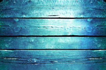 Blue background.