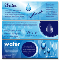 Water Flyer Template Set - Vector Illustration, Graphic Design, Editable For Your Design