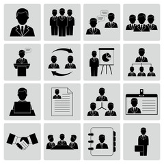 Vector illustration of human resources and management icons
