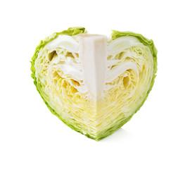 Head of Iceberg Lettuce on White