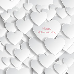 Heart Paper Sticker With Shadow Valentine's day vector