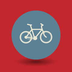 Bicycle symbol, vector