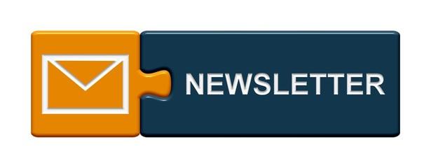Puzzle Button orange blau:  Newsletter